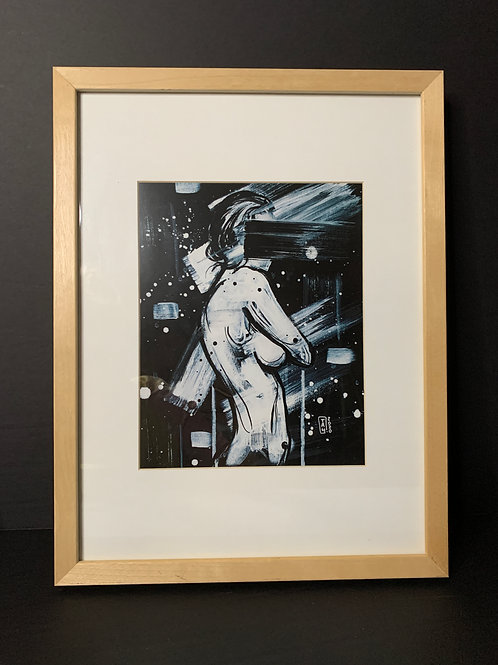 PICK UP ONLY - Framed Nude Woman - 13x17