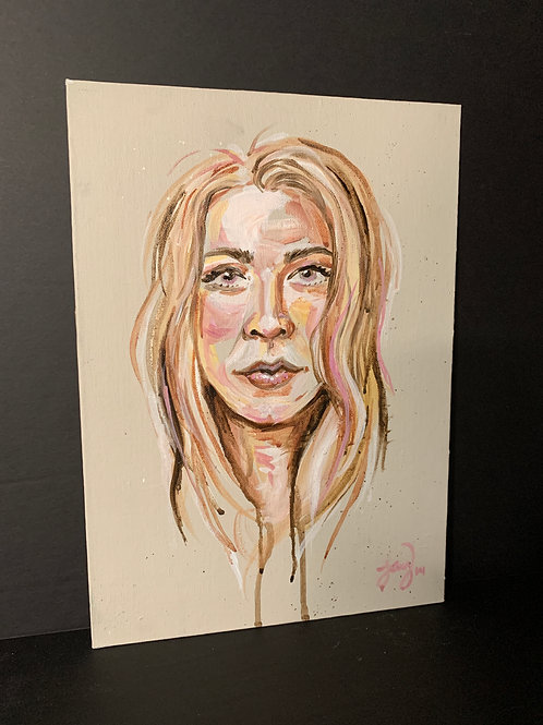Original Portrait Painting from 2014