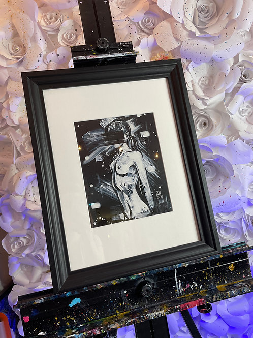 Framed Nude Woman - 15x19 ( unframed options available)
