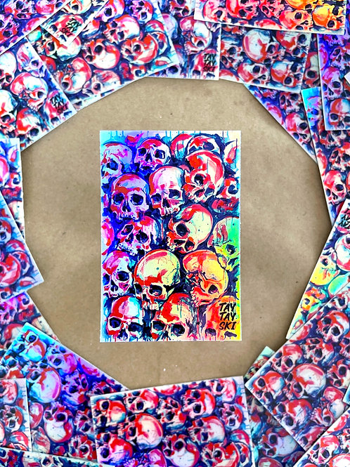 Neon Skulls Holo Sticker