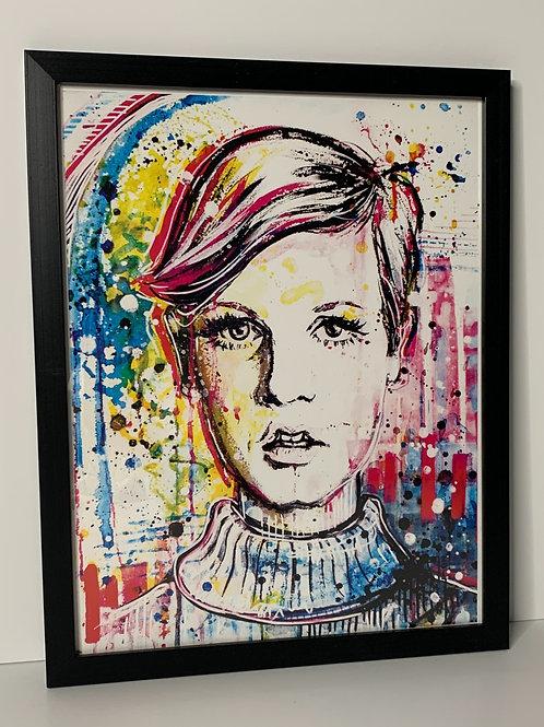 Framed Twiggy - 11x14
