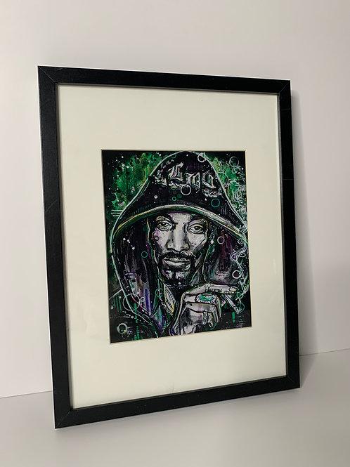PICK UP ONLY - Framed Snoop Dog - 13x17