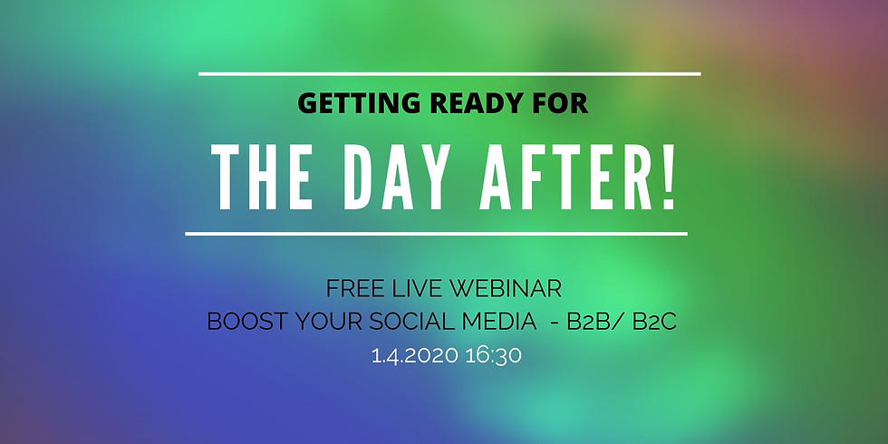 Boost your social media – The day after (free live webinar)