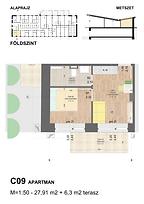 C09 apartman - Eladó nyaraló Balatonföldvár, Balaton déli part