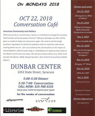 Conversation Cafe, 2018