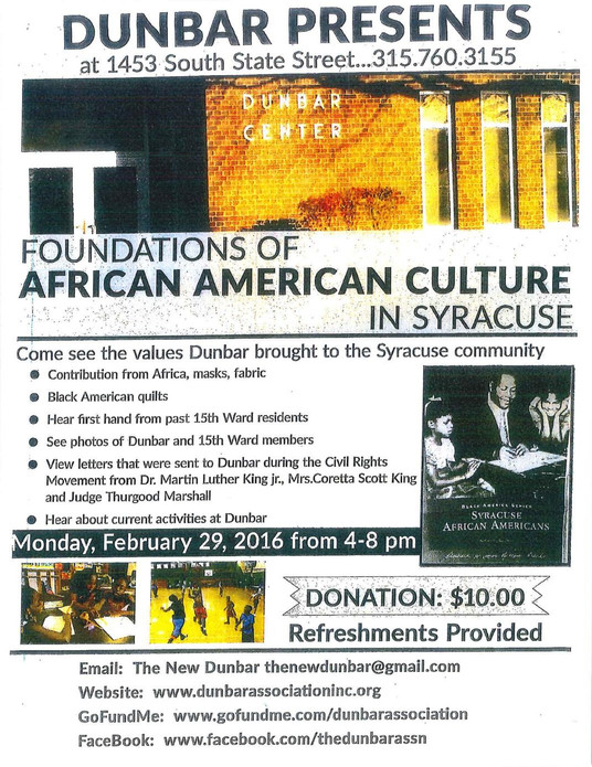 Foundations of African American Culture in Syracuse