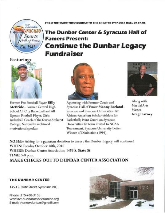 Continue the Dunbar Legacy Fundraiser