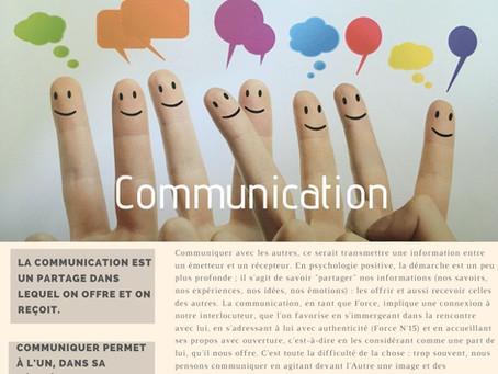 Force N°17 : LA COMMUNICATION