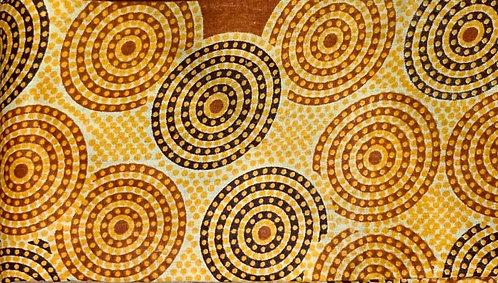 African- Brown Circles