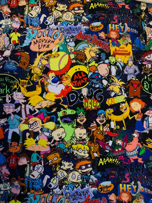 90's Cartoon Small Print