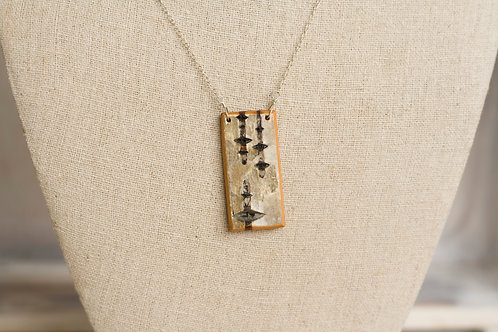Simple Birch Bark Necklace