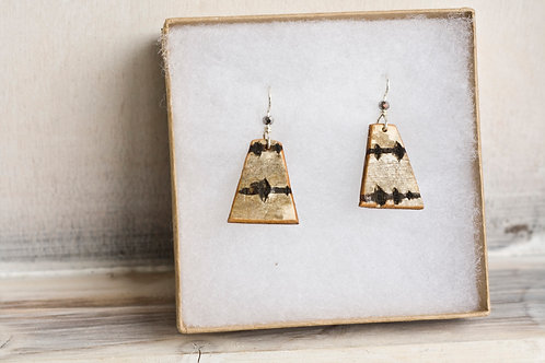 Small Birch Bark Earrings
