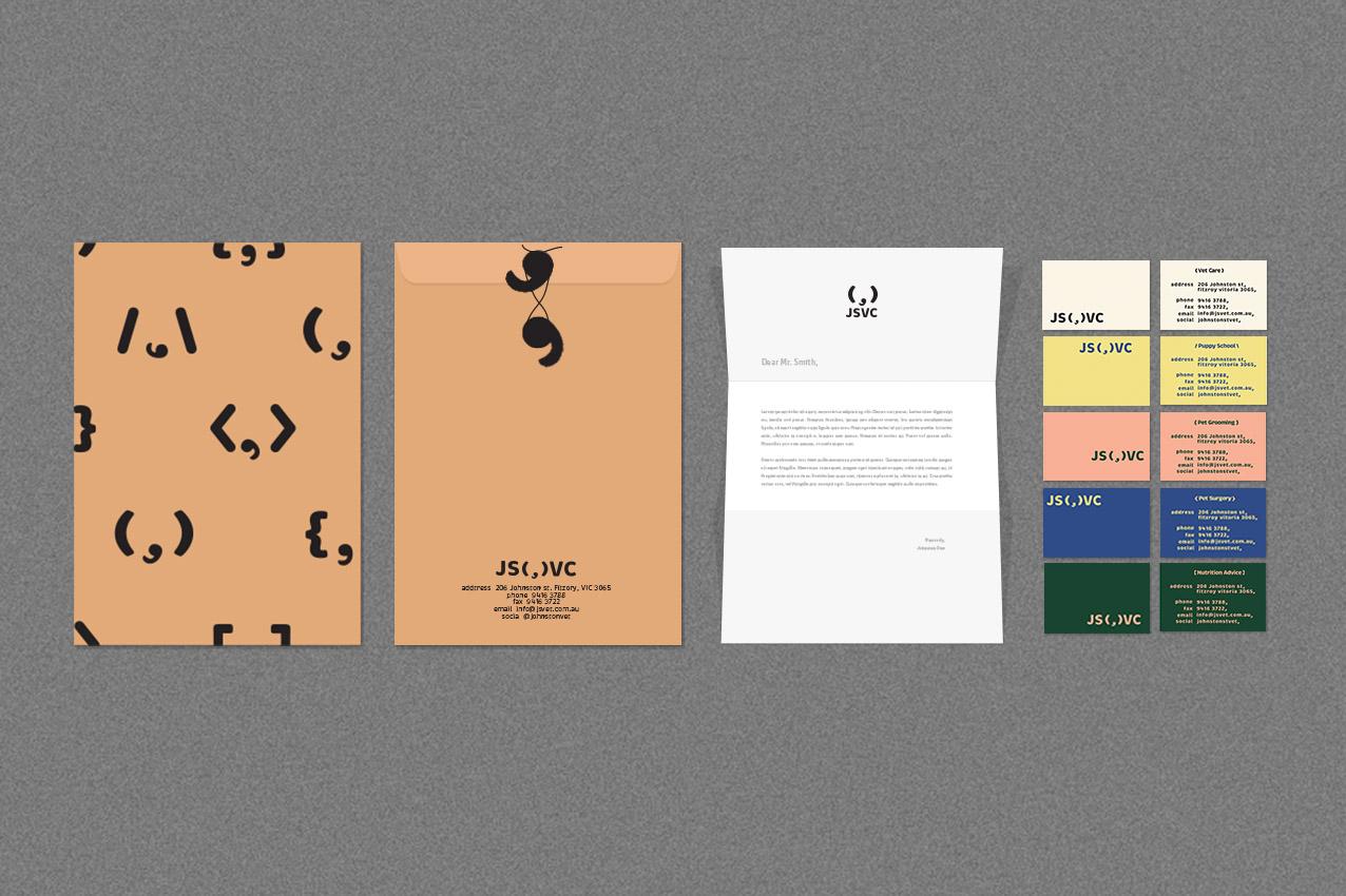 letterhead with folder