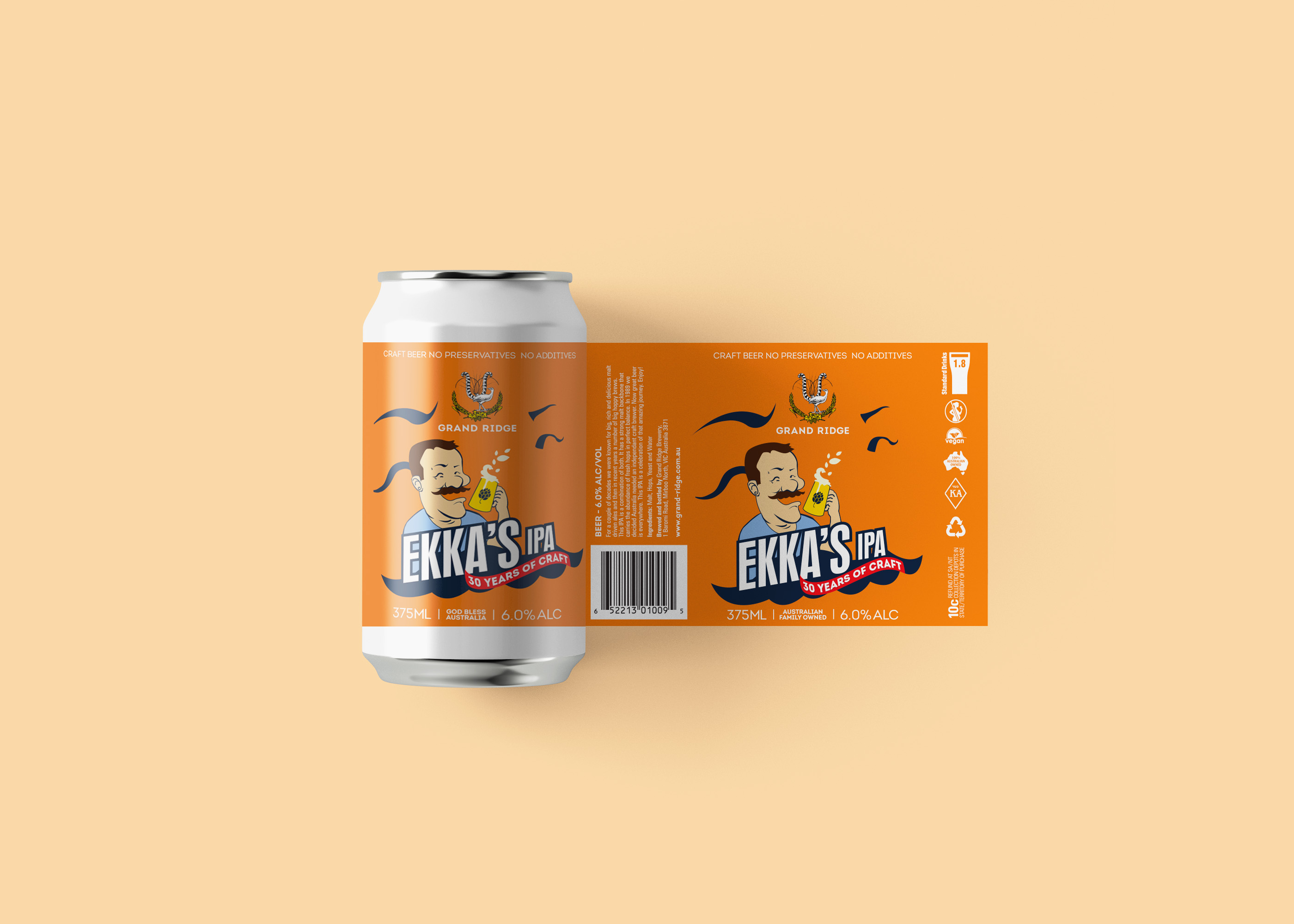 Round Small Beer Can Label Mockup For Pr