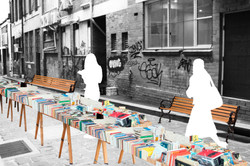 bookstall&bench&reading