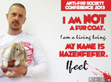 Rapper IFEEL at Anti-Fur Society Conference