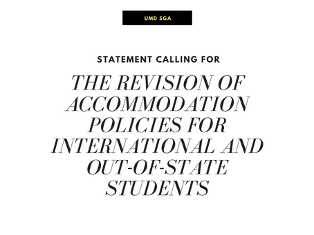 Calling for the Revision of Accommodation Policies for International and Out-of-State Students