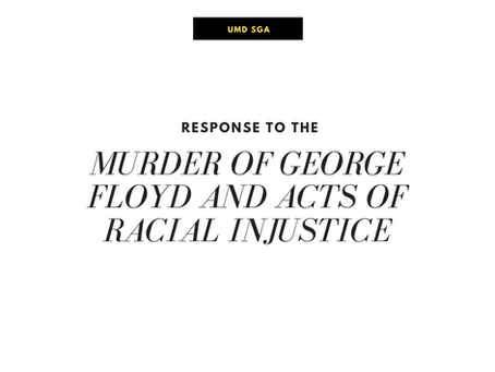 Response to the Murder of George Floyd and Acts of Racial Injustice