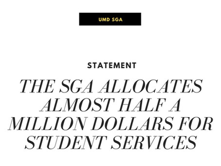The SGA Allocates Almost Half a Million Dollars for Student Services