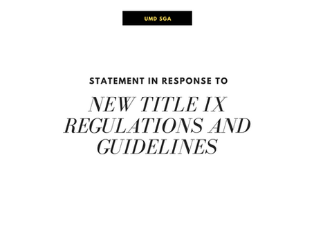SGA Statement on New Title IX Regulations and Guidelines