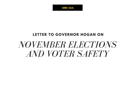 Letter to Governor Hogan on November Elections
