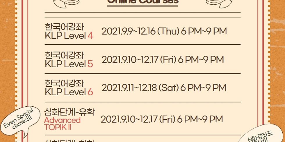 [Online] 한국어강좌 KLP Level 6 - Saturday