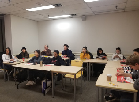 2020 Winter Korean Language Program at ILSC Downtown just started