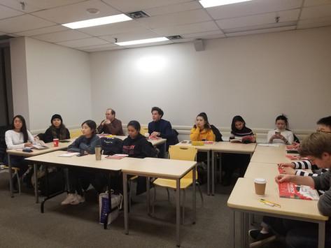 2020 Winter Korean Language Program at ILSC Downtown just started