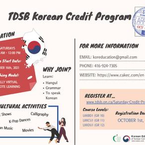 2021-2022 TDSB Korean Credit Program - Remote Learning