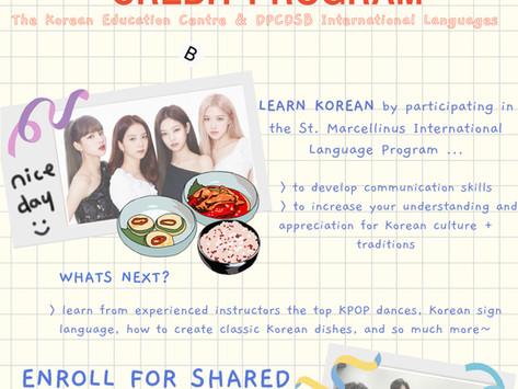 2021-2022 DPCDSB Korean Credit Program - In-person class