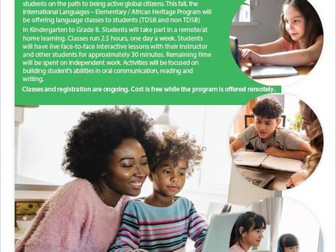 TDSB Online Korean Program 2020-2021: Register now