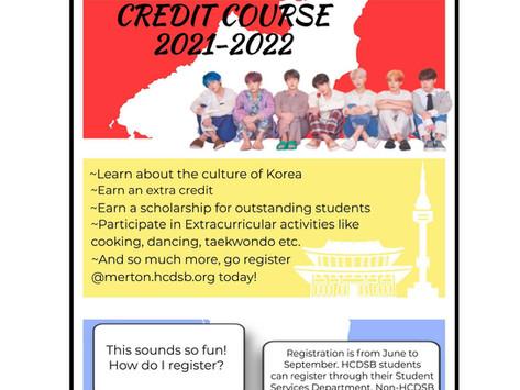 2021-2022 HCDSB Korean Credit Program - Remote Learning