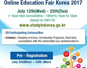 The First Biannual Online Education Fair Korea 2017