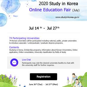 2020 Study in Korea Online Education Fair(July)
