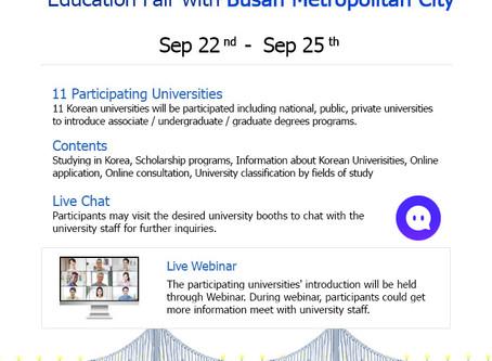 2020 Study in Korea Online Education Fair with Busan Metropolitan City