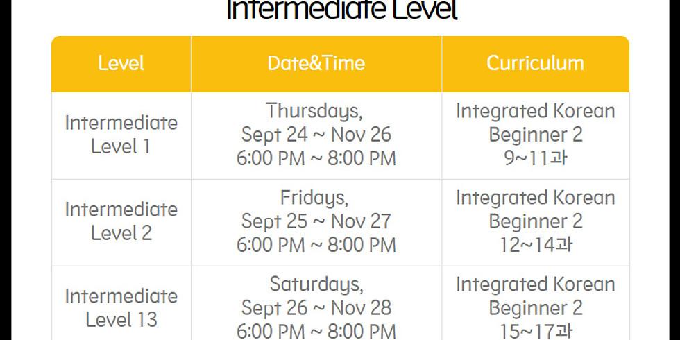 [Online] Intermediate 2 - Friday