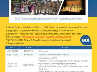 Summer in Korea for High School Students