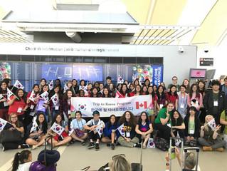 캐나다 고등학생 57명 한국으로 교육여행 떠나