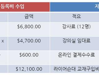 2019년도 가을학기 한국어강좌 결산보고