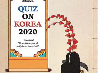 Quiz on Korea 2020( Oct. 24 2pm, Zoom Live)
