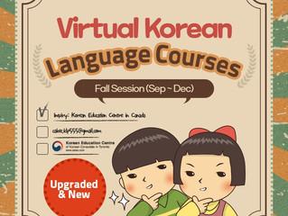 2021 Fall Virtual Korean Language Program