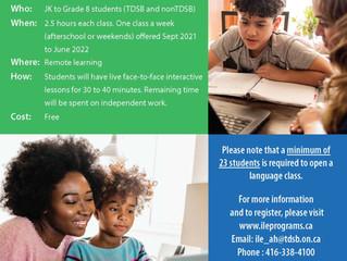 2020-2021 School Year TDSB Korean Language Program (Online-Elementary)