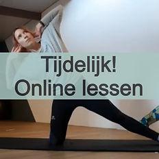 Tijdelijk online lessen. Klik hier voor meer info.