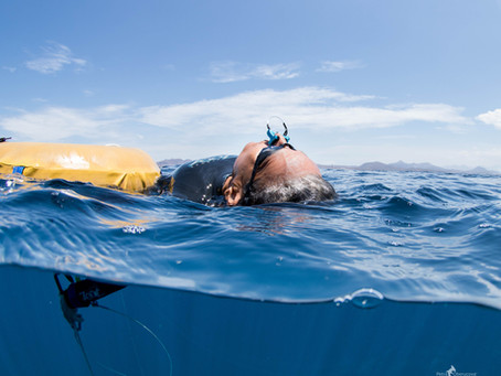 Freediving with a Noseclip