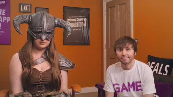 Game content marketing James Buckley breaking the fourth wall