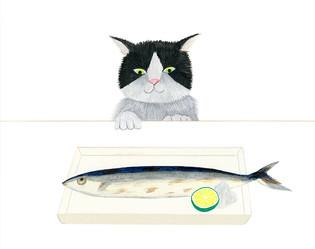 ねこと秋刀魚