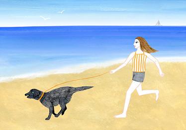 久しぶりの砂浜散歩