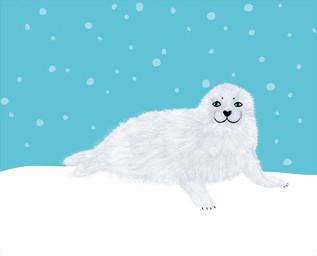 雪がふってきた