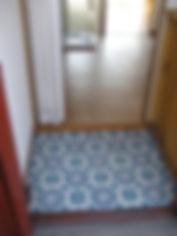 モロッコタイル柄の玄関