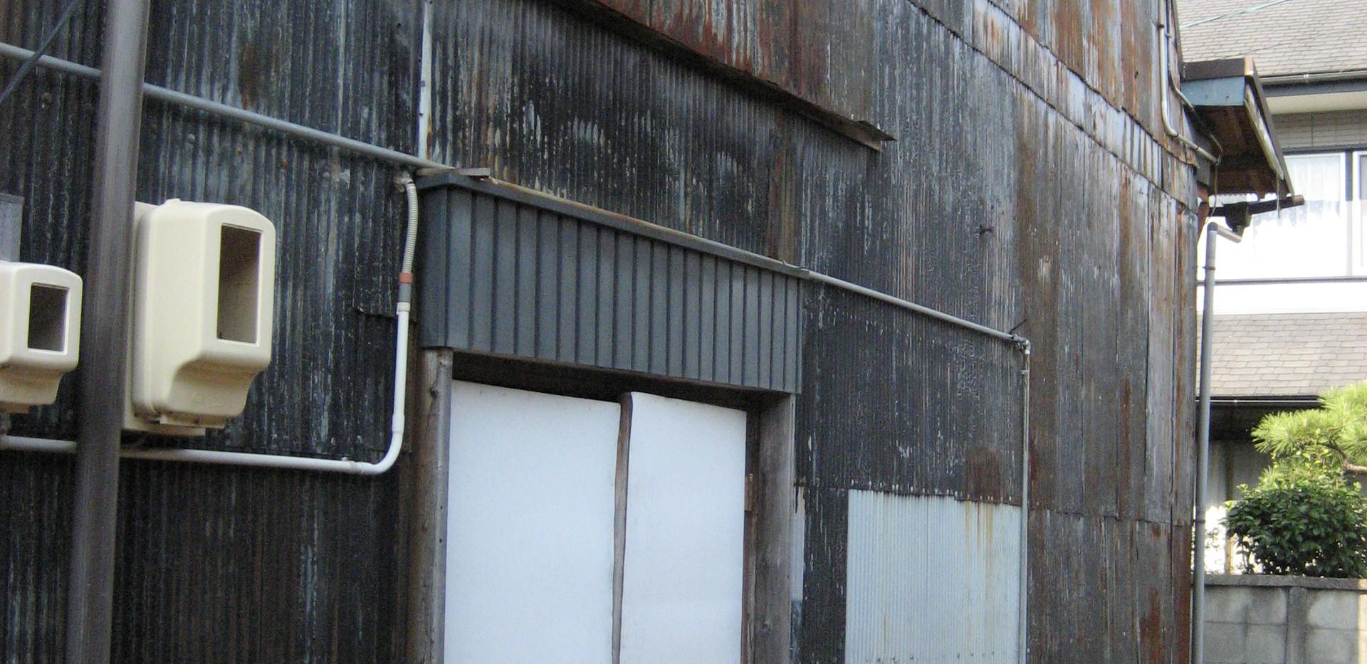 倉庫 K号室 南側方面からのビュー